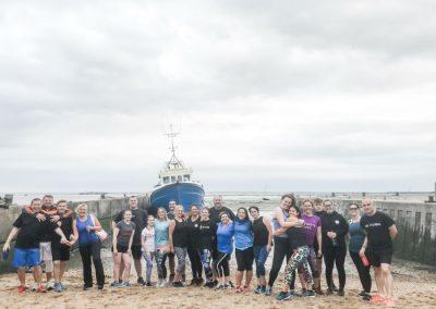 Rebel Health group photo on beach