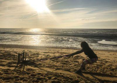 Rebel Health training on beach sunset
