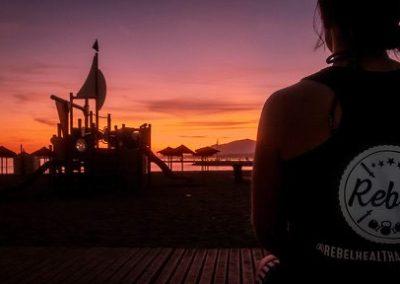Rebel Health Retreat sunset